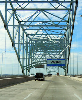 Crossing into Arkansas over the Mississippi River