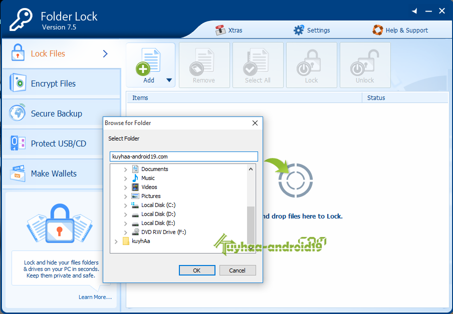 folder lock software for windows 7 with crack