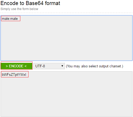 encode to base64