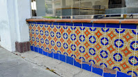 Decorative tile adorn this commercial building on Wilshire Blvd. in Beverly Hills
