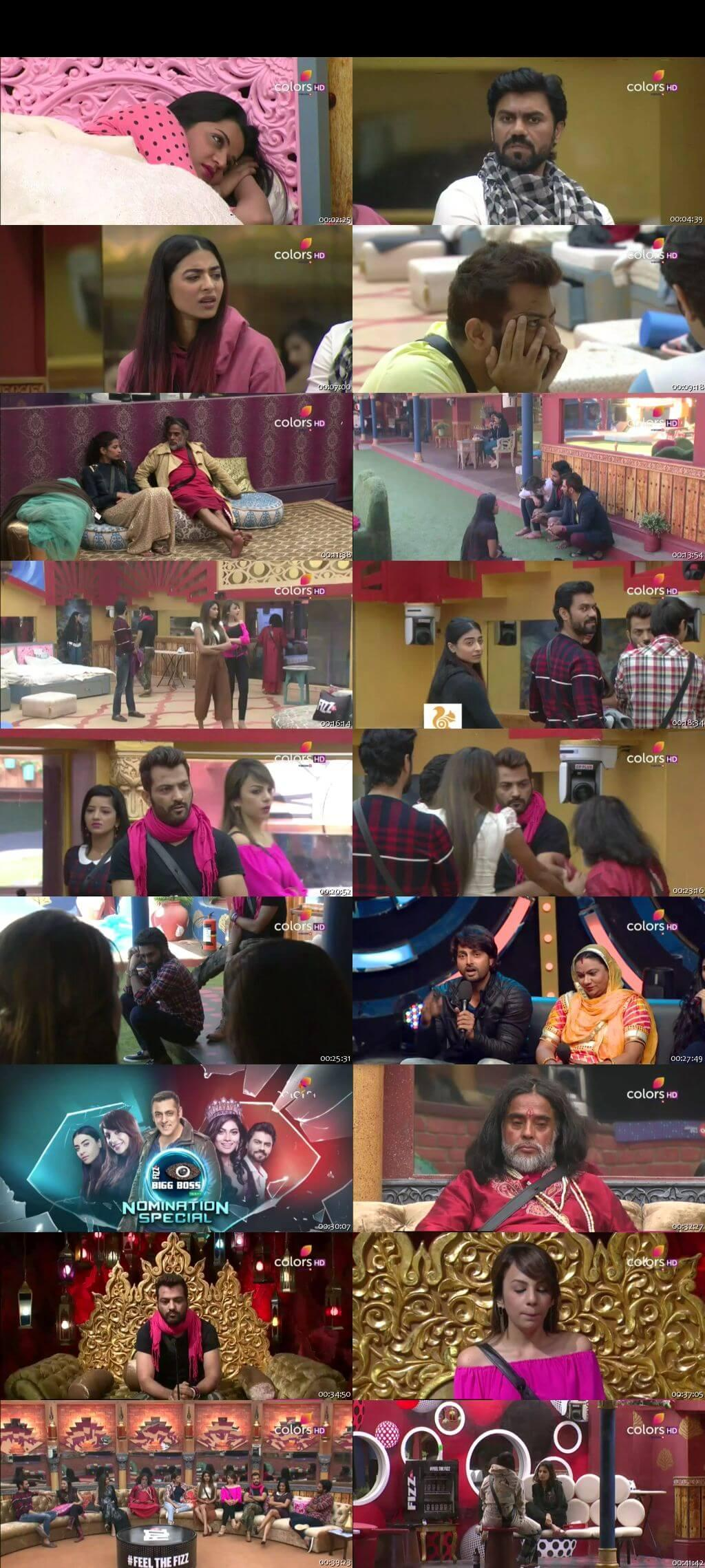 Screenshots Of Hindi Show Bigg Boss 10 19th December 2016 Episode 65 300MB 480P HD