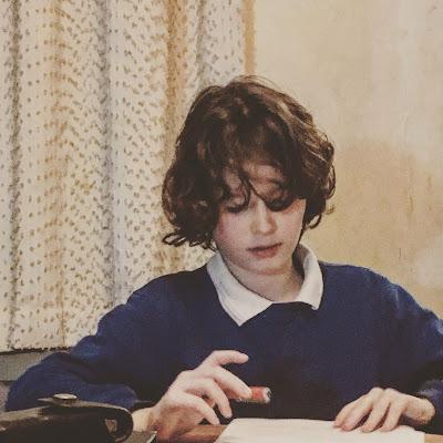 Boy doing homework