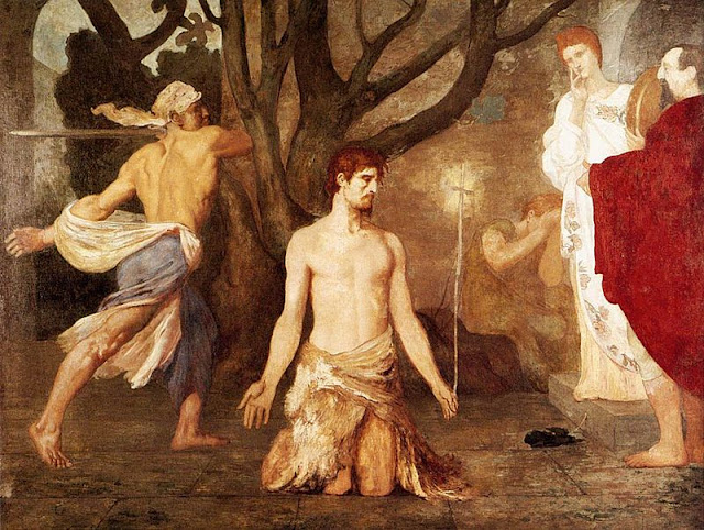 """The Beheading of Saint John the Baptist""  Puvis de Chavannes"