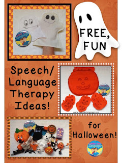 Ideas for using felt and Halloween toys in speech/language therapy from Looks-Like-Language