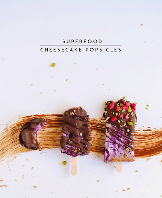 Minty Anne: Superfood Cheesecake Popsicles (Vegan)