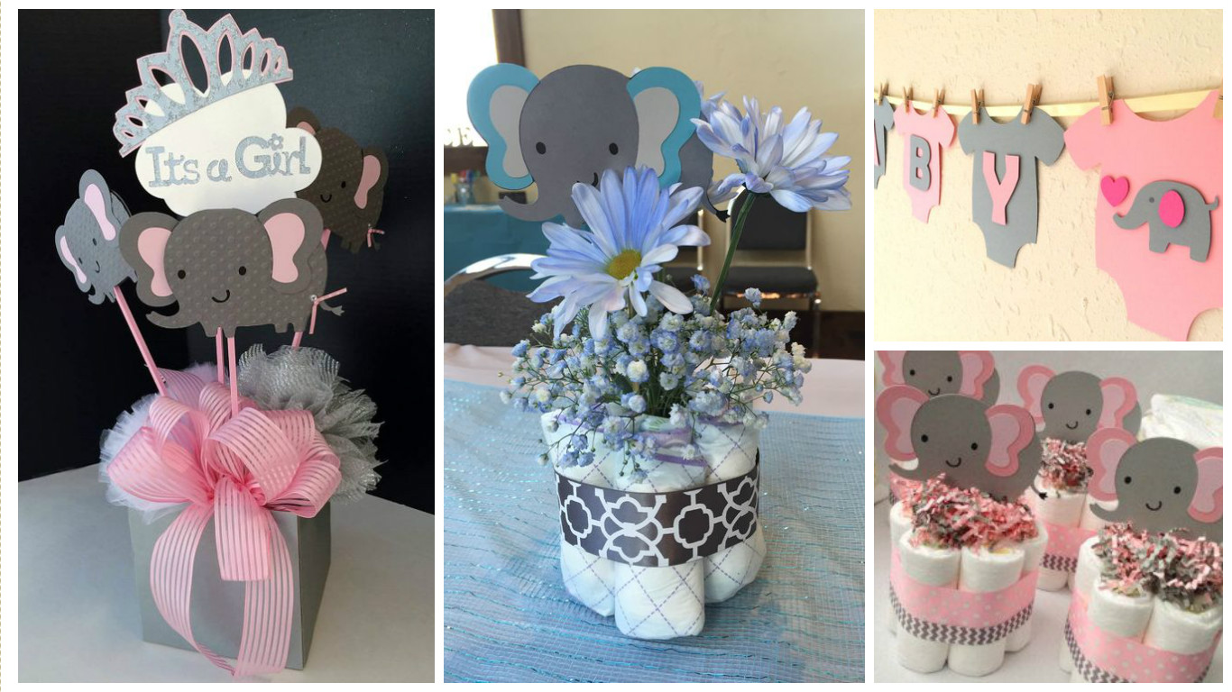 12 Centros de mesa y banderines para decorar baby showers ...
