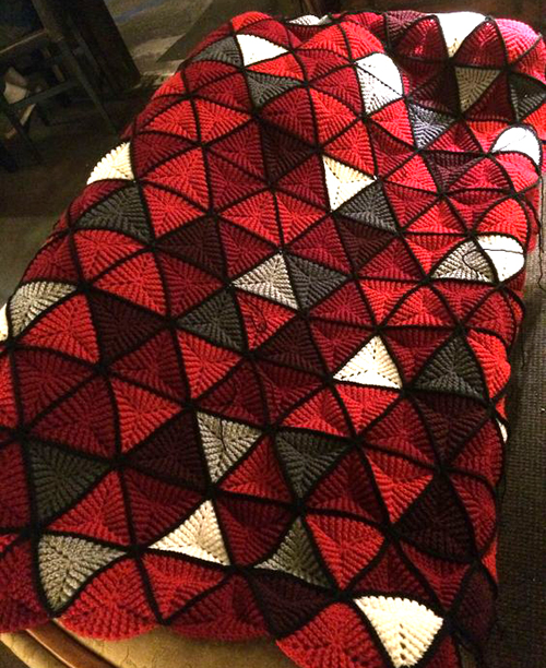 Triangles Afghan - Free Pattern