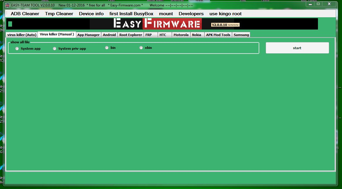 Easy firmware tool