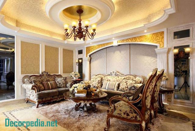 pop design, pop false ceiling design ideas for living room and hall 2019, luxury classic ceiling