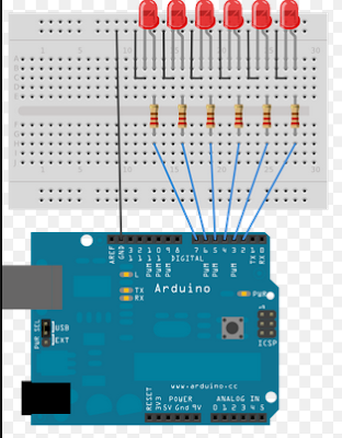 arduino multiple leds controller