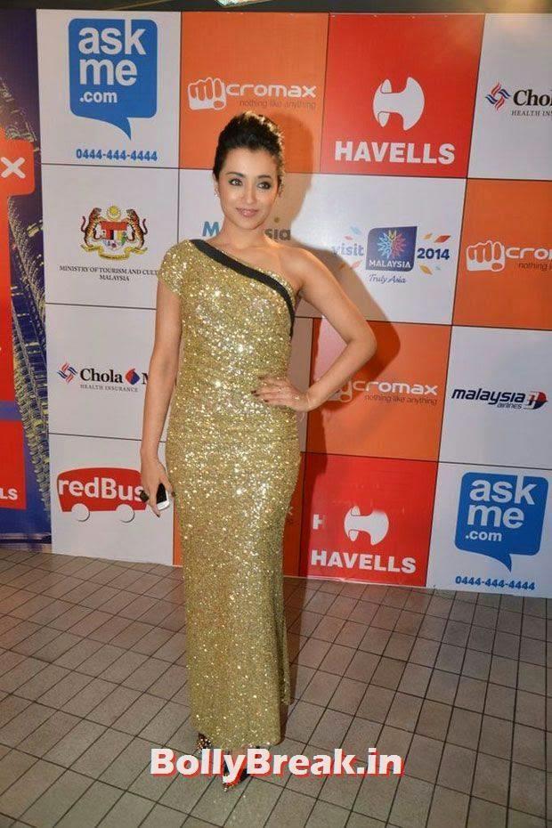 , Trisha in Hot Dress at SIIMA Awards 2014