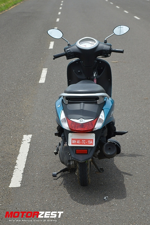 Yamaha Fascino India Sassy Cyan Rear