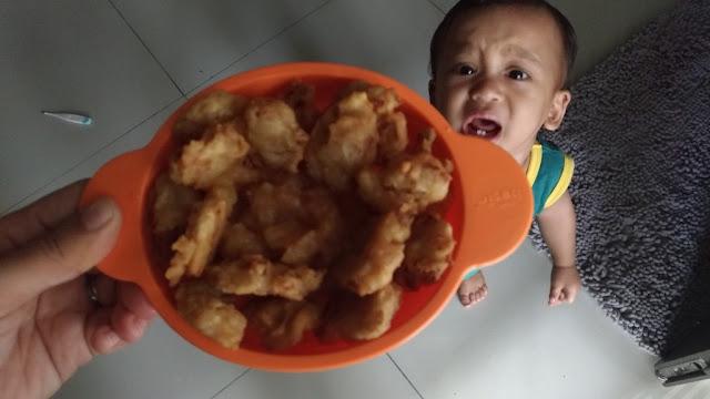 cekodok, makanan bayi