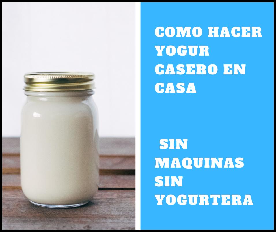 como hacer yogur casero con yogurtera