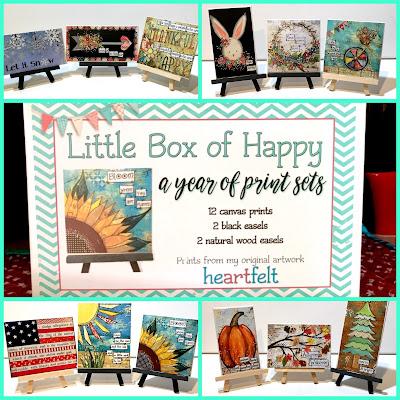 art prints, 12 months of prints, year of happy box