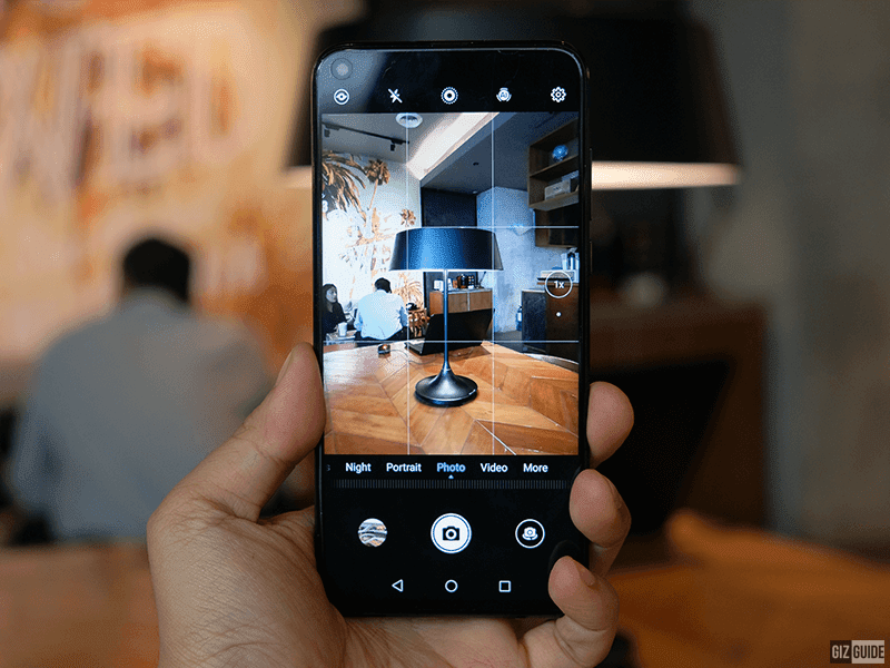 Nova 4 camera app interface
