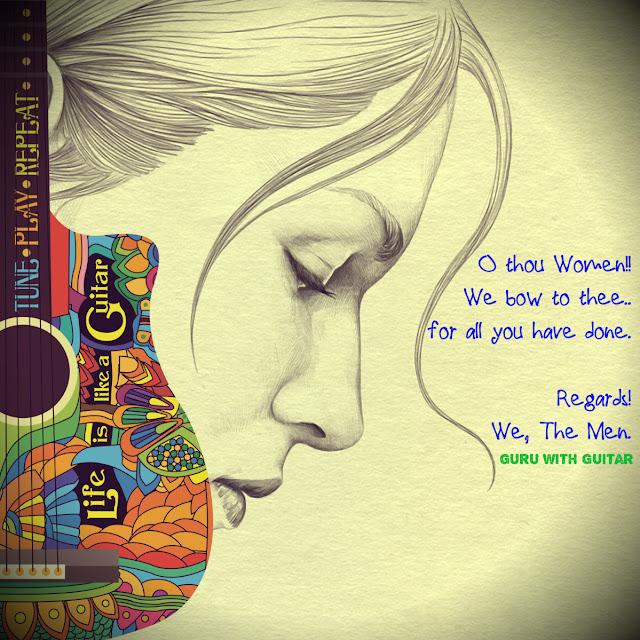 womens_day_quote_dedicated_guru_with_guitar_vikrmn_author_chartered_accountant_ca_verma_lyricist_speaker