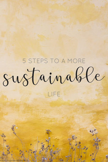 5 steps that you can take towards living a more sustainable and environmentally life. Click to read more!