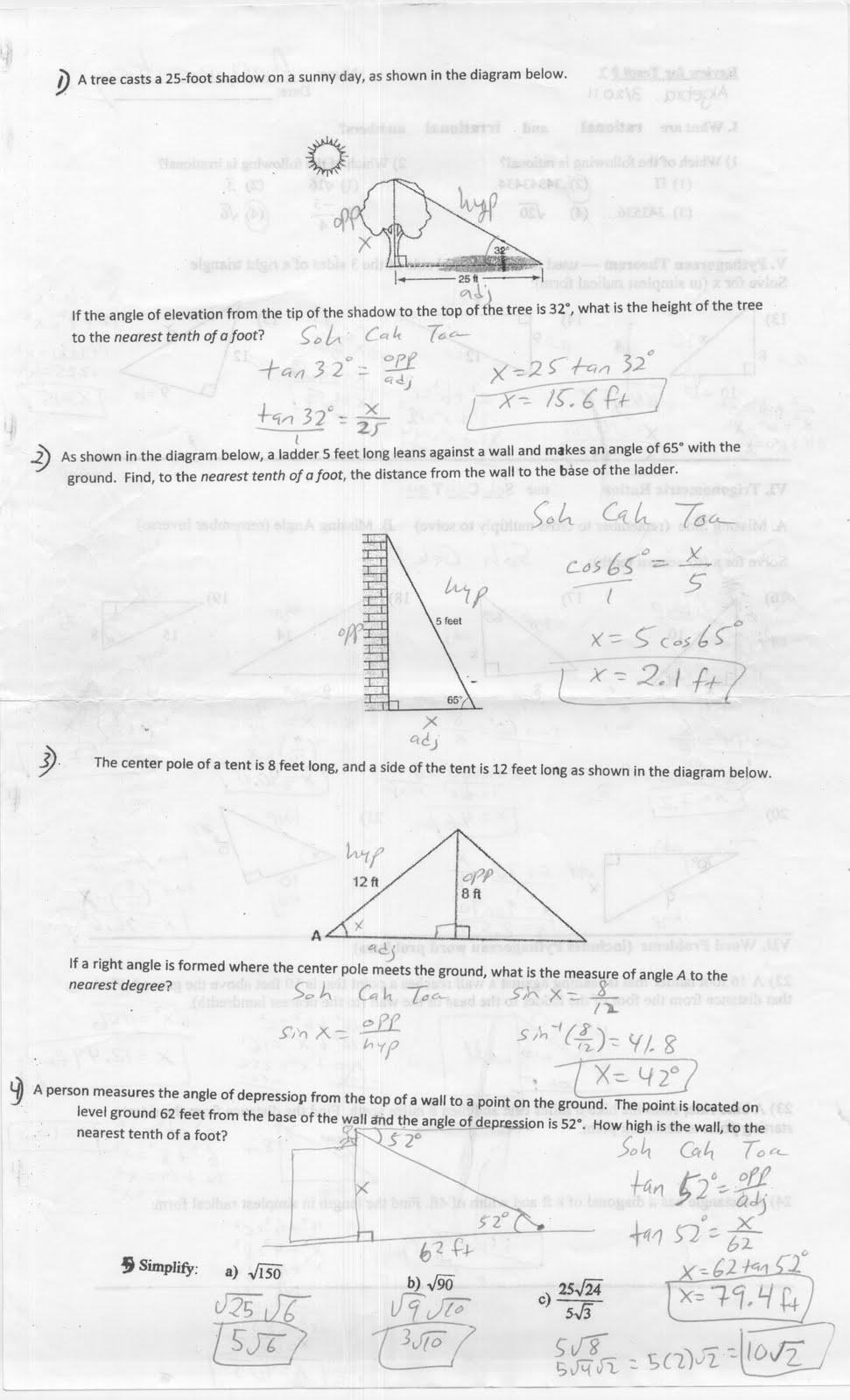 Mr. Napoli's Algebra: March 2011