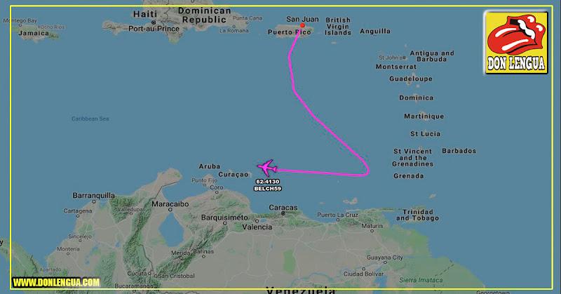 Avión militar de reconocimiento pasó sobre las costas de Venezuela