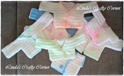 Free Easy Preemie Crochet Patterns : .Lindas Crafty Corner: All In One Preemie Cardie