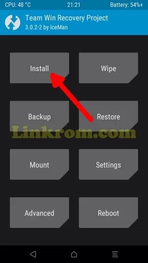 menu install twrp
