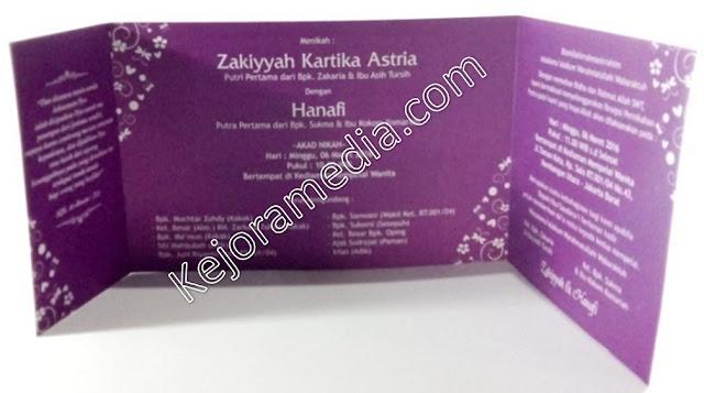 undangan nikah warna ungu