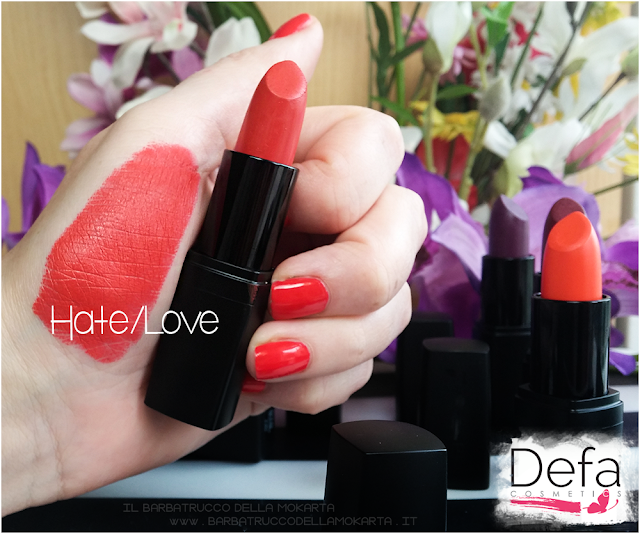 swatches hate/love Defa cosmetics lipstick