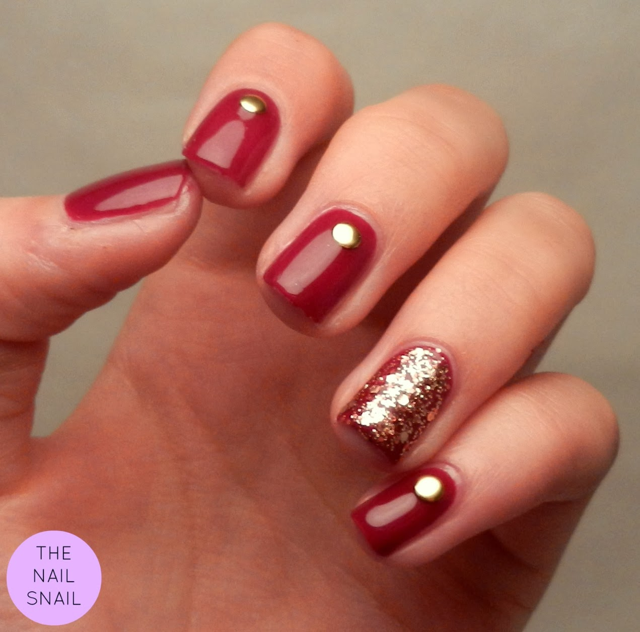 The Nail Snail Red And Gold Gala