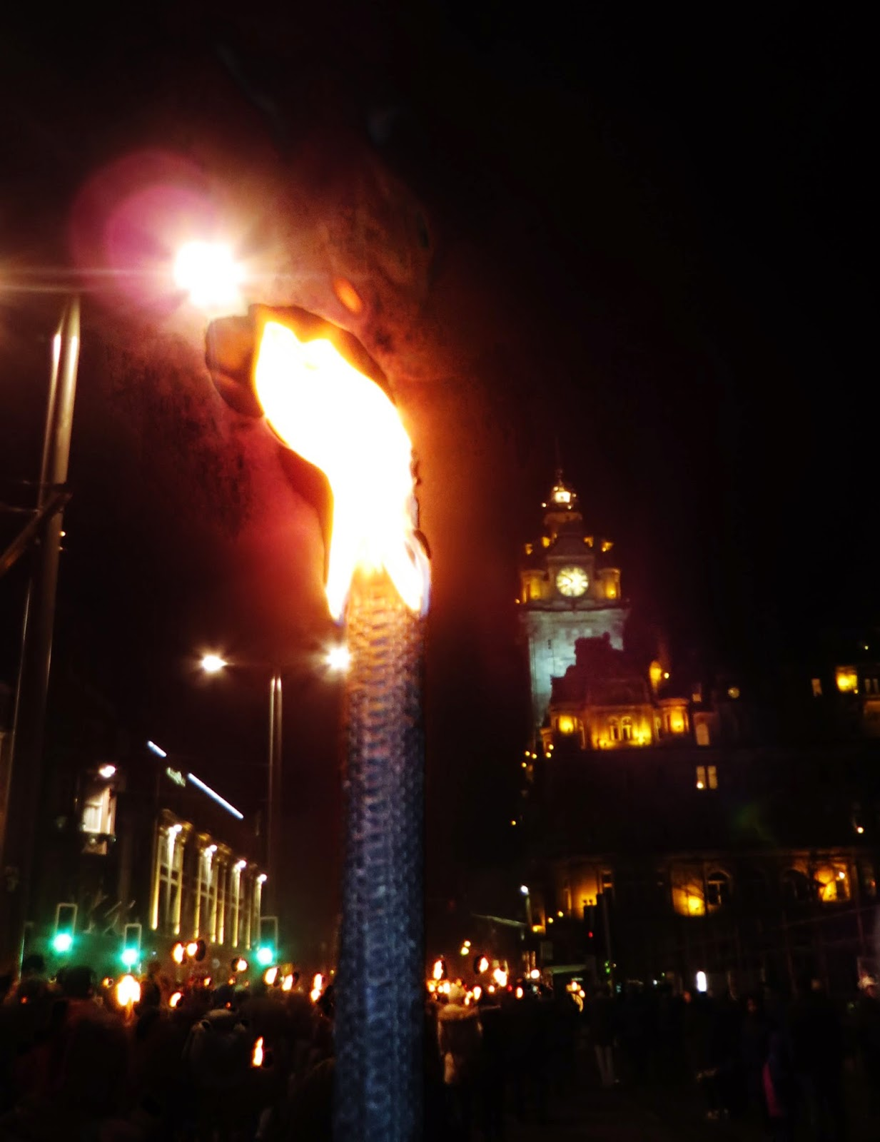 Hogmanay, Torchlight Procession, Edinburgh, Scotland, Things to do, Must do, Travel New Years, Torch, Flame, Fire