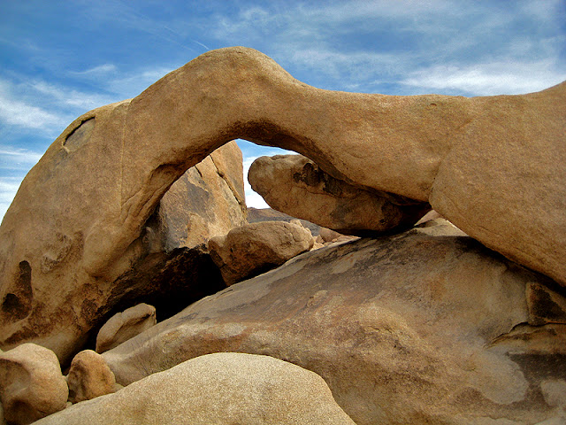Arch Rock is Joshua Tree is a temporary structure that will collapse one day, only to be replaced by others.