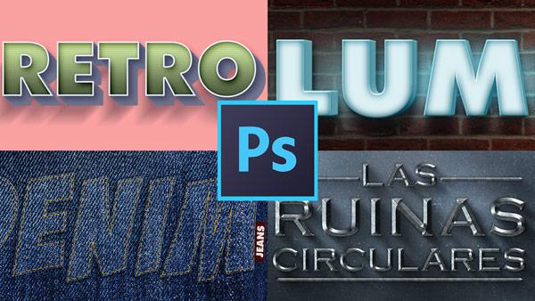 Curso de efectos de texto asombrosos con Adobe Photoshop