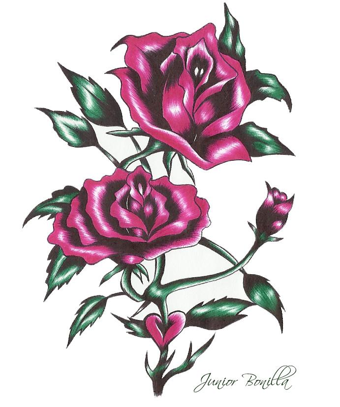Imagenes De Corazones Con Rosas Para Dibujar Miexsistir