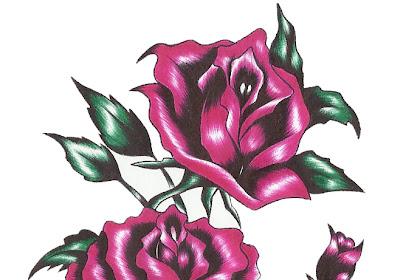Imagenes De Rosas Dibujadas Con Color