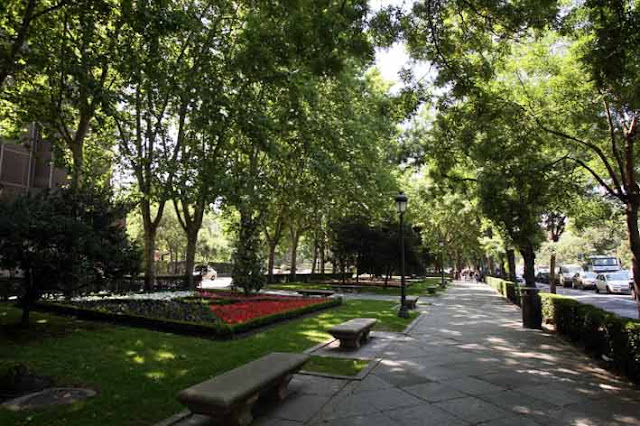 Região de Paseo del Prado em Madri