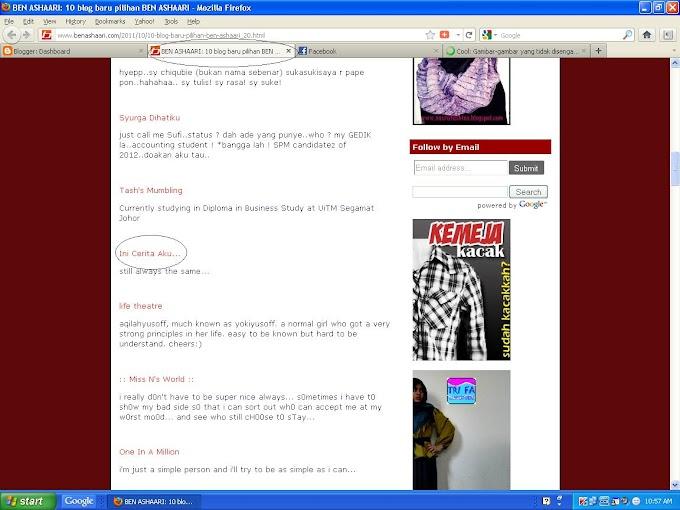 Ben Ashaari Promote Blog Aku!!!