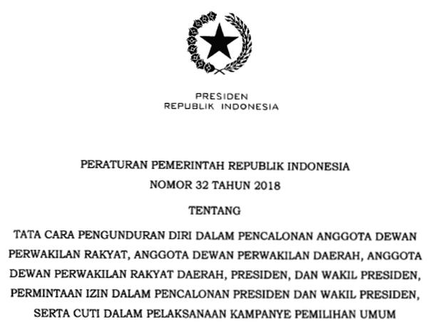 Peraturan Pemerintah PP Nomor 32 Tahun 2018