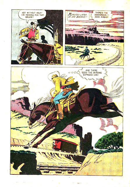 Rex Allen v1 #2 dell western comic book page art by Russ Manning