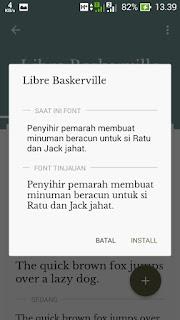 Cara Menganti Font Android