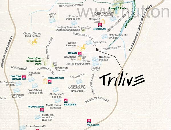 Trilive Location Map