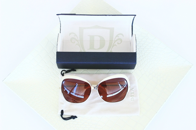 DITA Marseilles sunglasses,cream shiny white gold