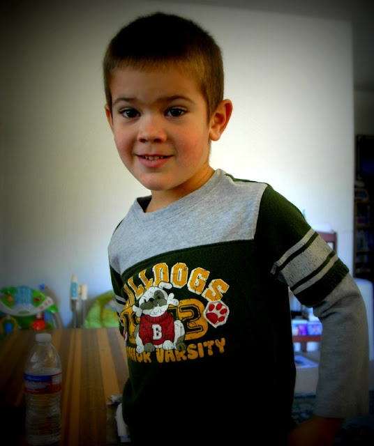 child wearing his bulldog shirt: LadyD Books