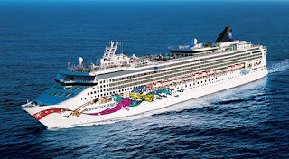 Norwegian Cruise Line - Norwegian Jewel - Recently Fitted With Emission Scrubbers.