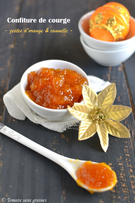 Confiture de courge aux zestes d'orange et à la cannelle