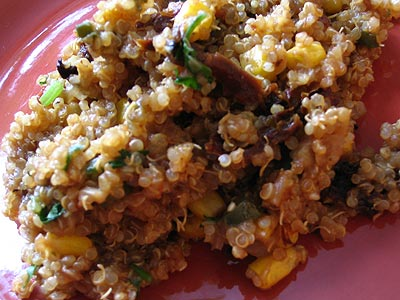 Quinoa with Sun-Dried Tomatoes and Corn