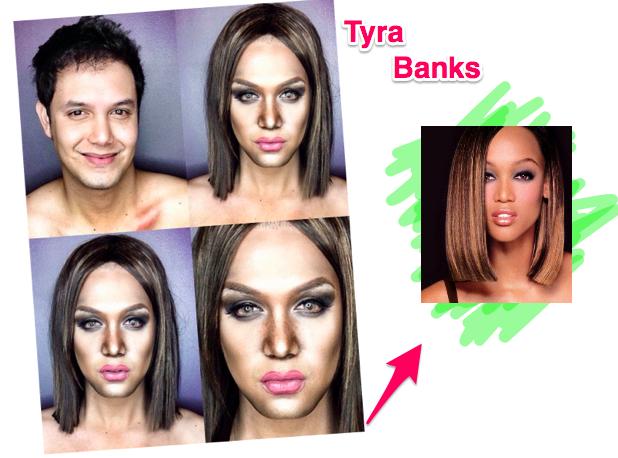 Maquiador se Transforma na Tyra Banks