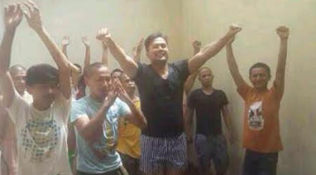 Di Penjara, Saipul Jamil Ajarkan Senam Pada Napi Lainnya