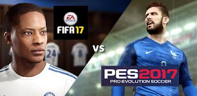 FIFA 17 vs PES 17