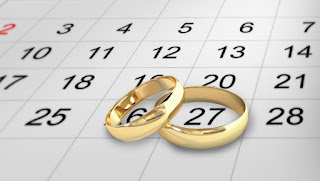 The date of the wedding, the right time