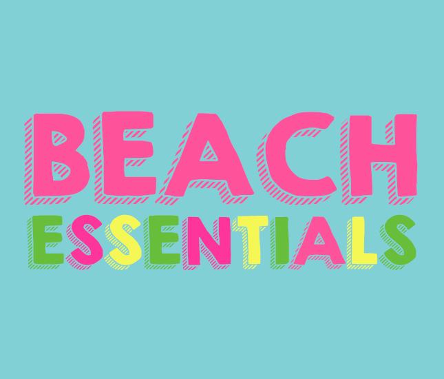 monogrammed beach essentials